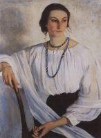 Портрет Е.Е.Зеленковой, урожденной Лансере, сестры художницы.
