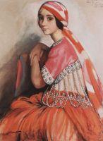 Портрет балерины Л.А.Ивановой.