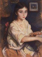 Портрет О.И.Рыбаковой в детстве.