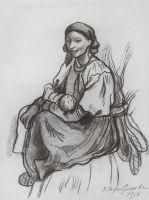 Крестьянка с ребенком.