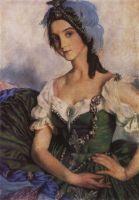 Портрет А.Д.Даниловой в театральном костюме.