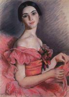 Портрет Е.Н.Гейденрейх в красном.
