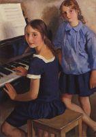 Девочки у рояля.