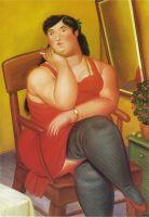 Сидящая колумбийка