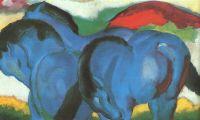 Маленькая синяя лошадь