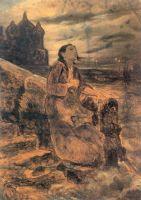 Девушка, бросающаяся в воду