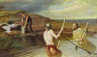 Рыбаки. (Священник, дьякон и семинарист)