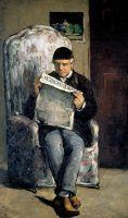 """Портрет Луи-Огюста Сезанна, отца художника, читающего """"Эвнеман"""""""