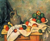 Натюрморт, драпировки, кувшин и чаша с фруктами