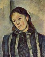 Портрет мадам Сезанн с распущенными волосами