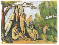 Купальщицы рядом с палаткой