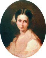 Портрет Н.П. Боголюбовой, рожденной Нечаевой. Начало 1860-х