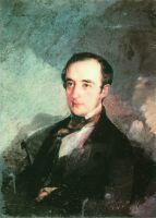 Портрет неизвестного в синем сюртуке. 1840-е