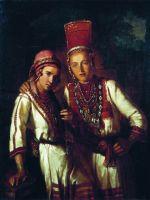 Две молодые мордовки. 1842
