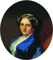 Портрет А.А. Олениной, в замужестве Андро де Ланжерон. 1851
