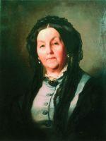 Портрет пожилой женщины в сером платье. 1871