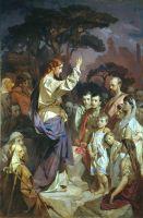 Нагорная проповедь (Христос, благословляющий царское семейство). Около 1890