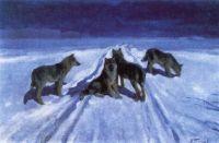 Волки ночью. 1910-е