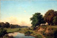 Пейзаж с прудиком. 1880-е