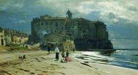Город на берегу моря. Середина 1870-х