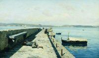 Город Поццуоли близ Неаполя. 1876