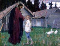 Христос, благословляющий отрока Варфоломея. 1926
