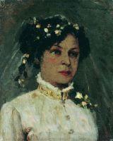 Портрет Марии Ивановны Нестеровой в подвенечном уборе. 1886
