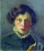 Портрет М.И.Нестеровой, первой жены художника. 1886