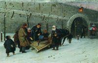 Сбор на погорелый храм в Москве. 1885