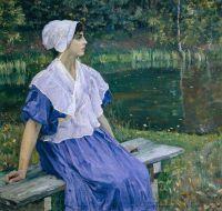 Девушка у пруда (Портрет Н.М.Нестеровой). 1923