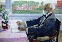 Портрет академика физиолога И.П.Павлова. 1935
