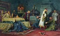 Шутовской кафтан. Боярин Дружина Андреевич Морозов перед Иваном Грозным. 1885