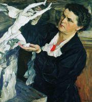 Портрет скульптора В.И.Мухиной. 1940