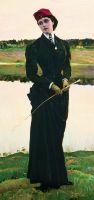 Амазонка. (Портрет дочери). 1906