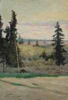 Пейзаж с елками. 1897