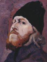 Голова монаха (Портрет протодьякона М.К.Холмогорова). 1914
