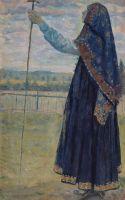 Женщина с посохом. 1914