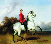 Лейб-гусар на коне (Портрет К.А.Дружинина)