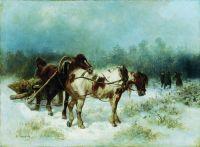 Приезд на охоту. 1874