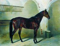 Лошадь в конюшне. 1850