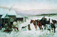 У кабака зимой. 1891