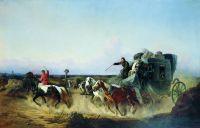 Помещица в пути. 1855