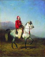 Всадник в турецком костюме. Арабская порода. 1863