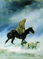 Охотник, застигнутый вьюгой. 1872