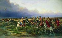 Царь Алексей Михайлович с боярами на соколиной охоте близ Москвы. 1873