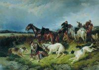 Охота на волка. 1873