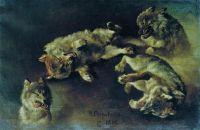 Волки. 1886
