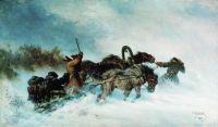 Тройка зимой. 1888