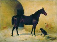 Лошадь с собакой. 1875