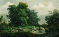 Охотник в лесу. 1860-е